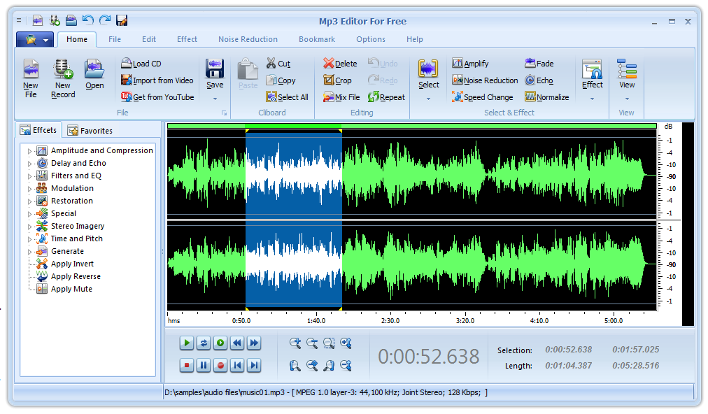 MP3 Editor for Free Download