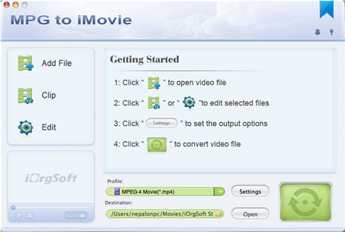 MPG to iMovie Converter for Mac Download