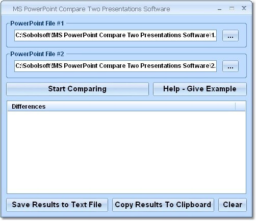 MS PowerPoint Compare Two Presentations Software Download