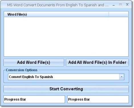 Convert documents from english to spanish and spanish to english