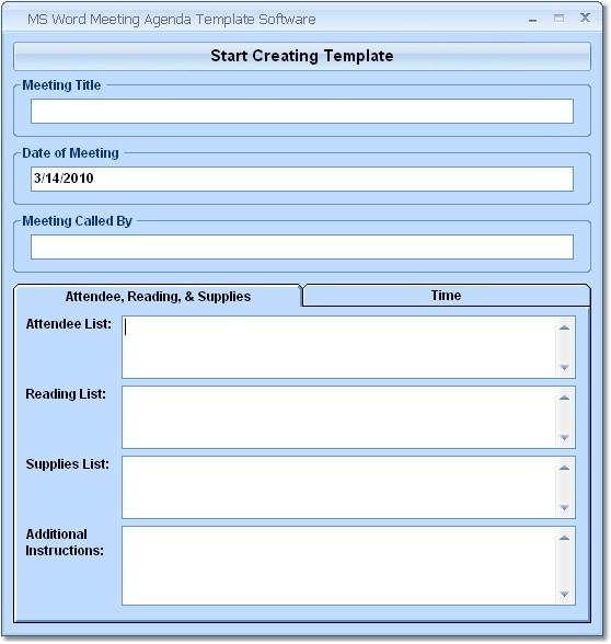 office meeting template