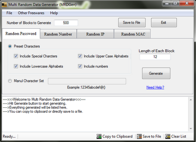 Multi Random Data Generator Download