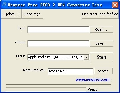 Newpear Free SVCD 2 MP4 Converter Lite Download