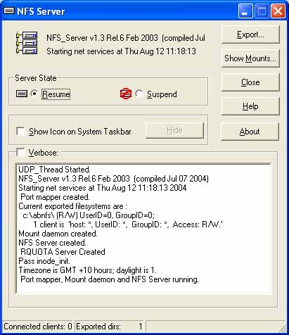 NFS client and server for windows ProNFS Download