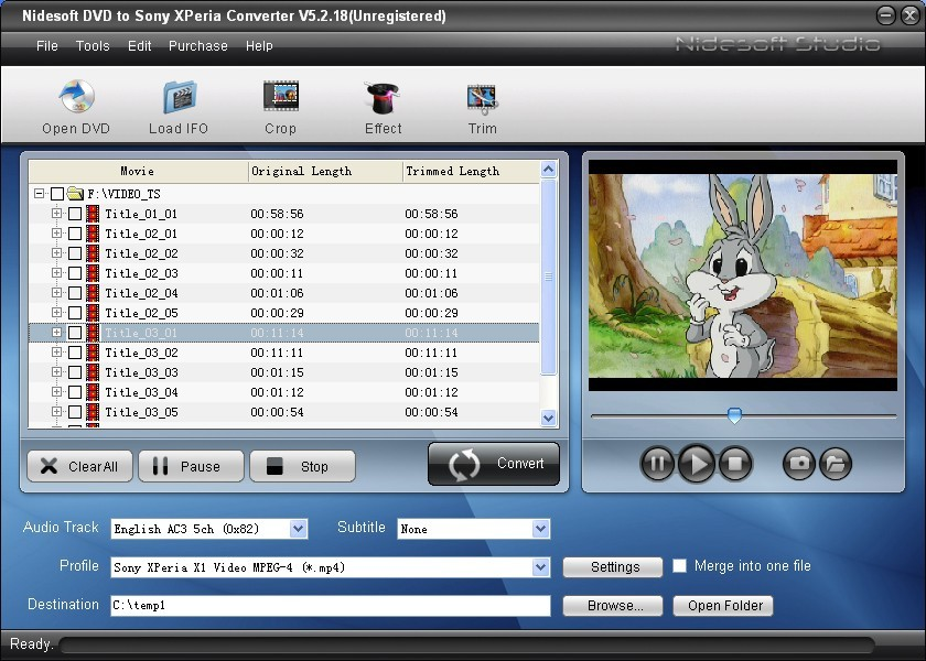 Nidesoft DVD to Sony XPeria Converter Download