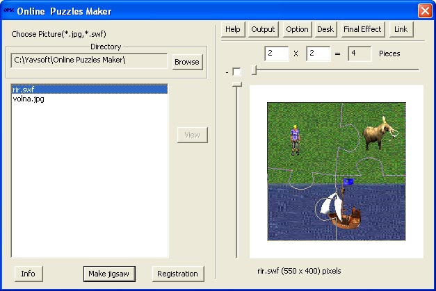 Online Flash Jigsaw Puzzle Creator
