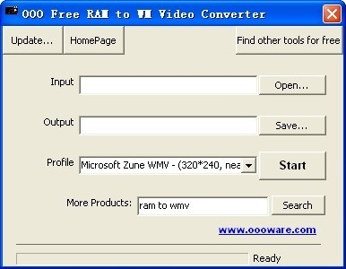 OOO Free RAM to WM Video Converter Download
