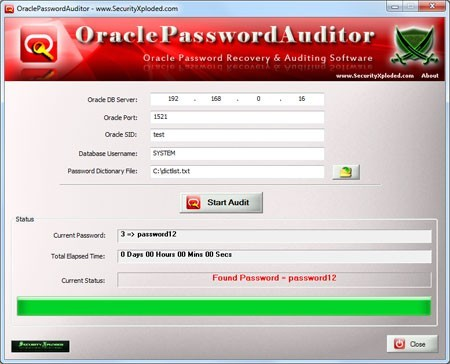 Oracle Password Auditor Download