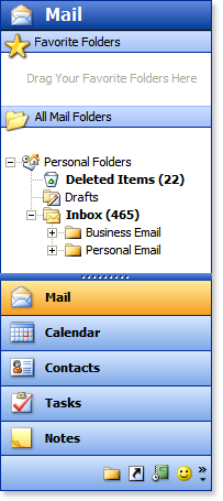 Outlook 2003 Style ShortcutBar Download