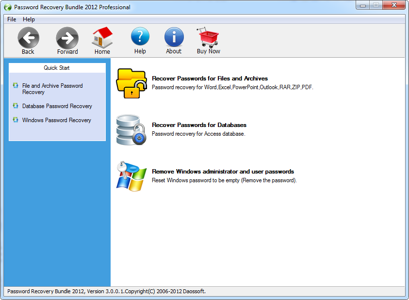 Password Recovery Bundle 2012 Pro Download