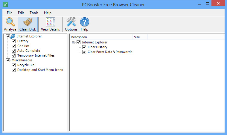 PCBooster Free Browser Cleaner Download
