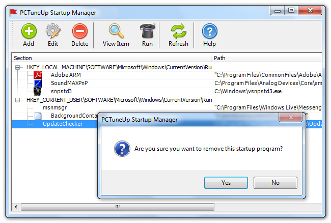 PCTuneUp Free Startup Manager Download