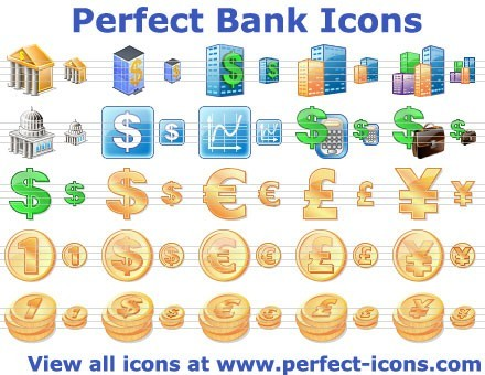 Perfect Bank Icons Download