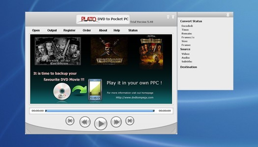 Plato DVD to Pocket PC Converter Download