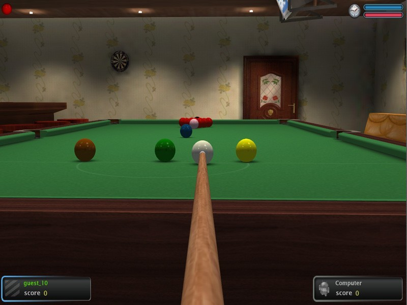 Screenshot, Review, Downloads of Freeware Poolians Real Snooker 3D