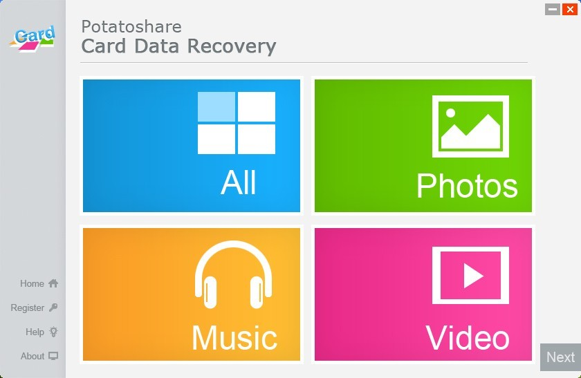 Potatoshare Card Data Recovery Download