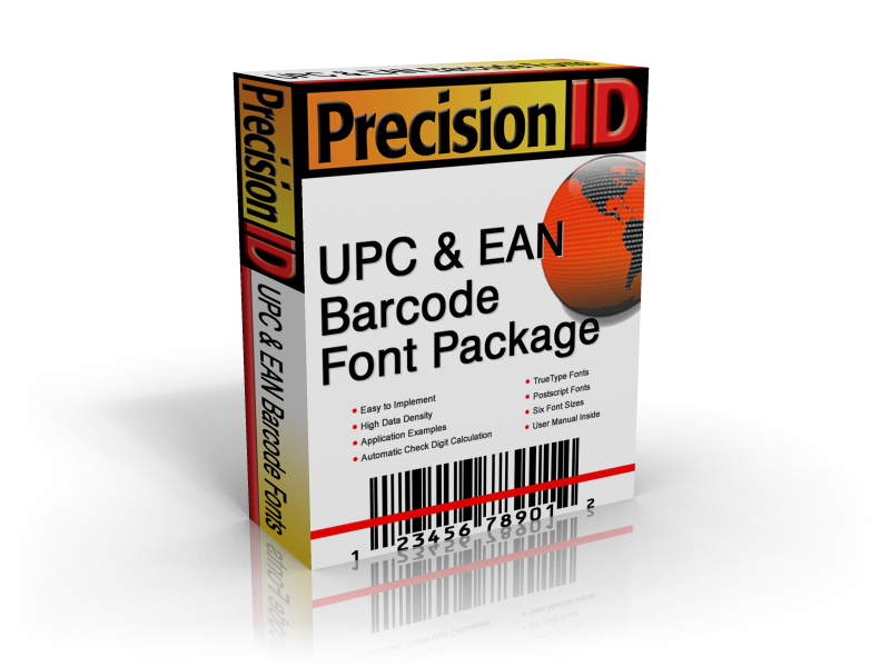 PrecisionID UPC EAN Barcode Fonts Download