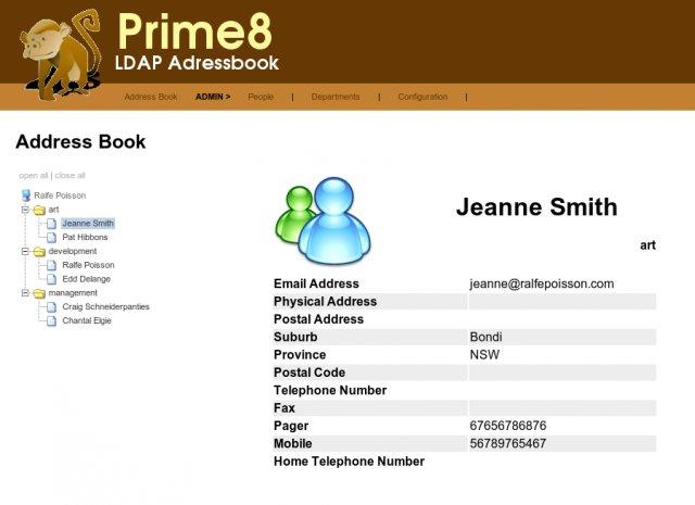 Prime8 LDAP Address Book Download