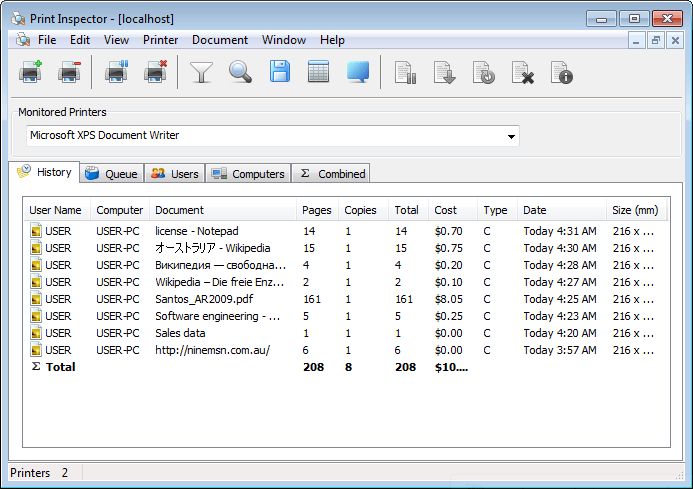 screenshot  review  downloads of commercial print inspector