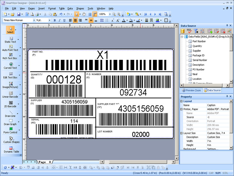 PrintShop Variable Barcode Label Printing Software Download