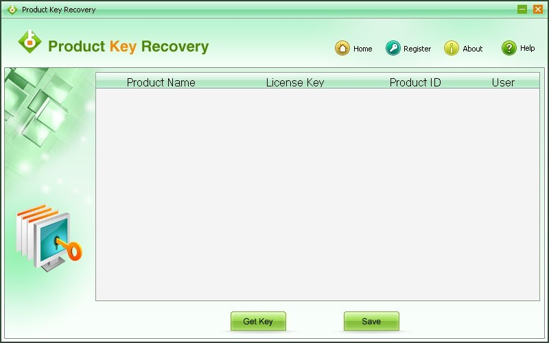 Screenshot, Review, Downloads of Shareware Product Key Recovery