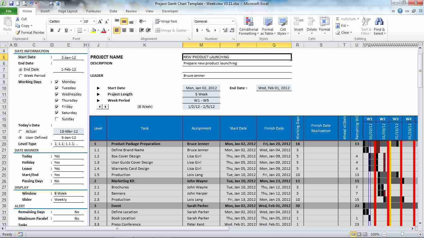 It Project Plan Template Novasatfmtk - Excel template timeline project management