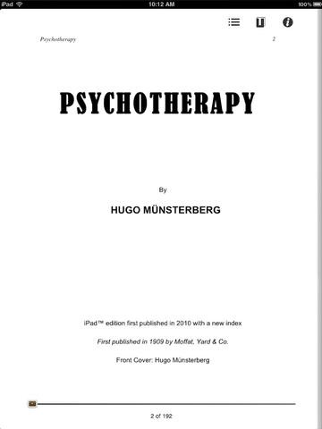 Psychotherapy for iPad Download