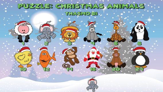 Puzzle: Christmas animals for toddlers Download