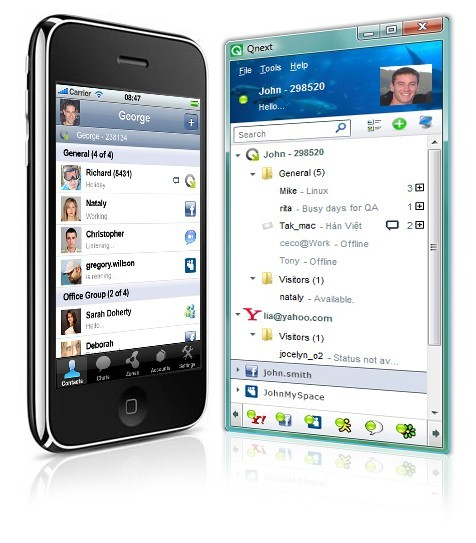 Qnext Mobile/PC Multi Messenger, Sharing Download