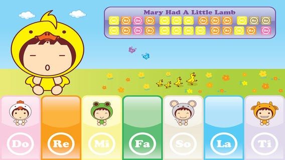 QQ Piano - Cute Animals Sheet Music, Kids Can Follow To Play - Free Download
