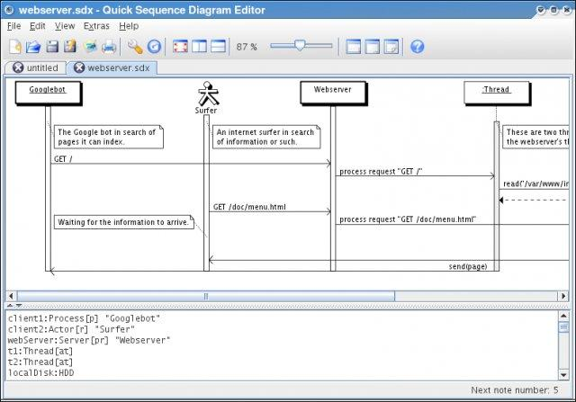 Screenshot  Review  Downloads Of Freeware Quick Sequence Diagram Editor