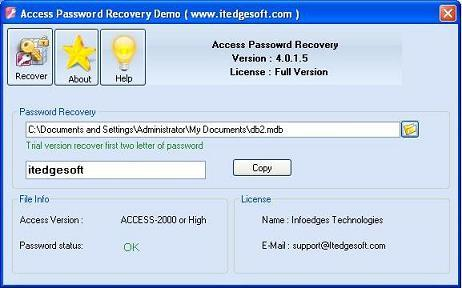 Recover Access Password Download