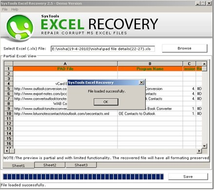 Recover Damaged Excel Files Download