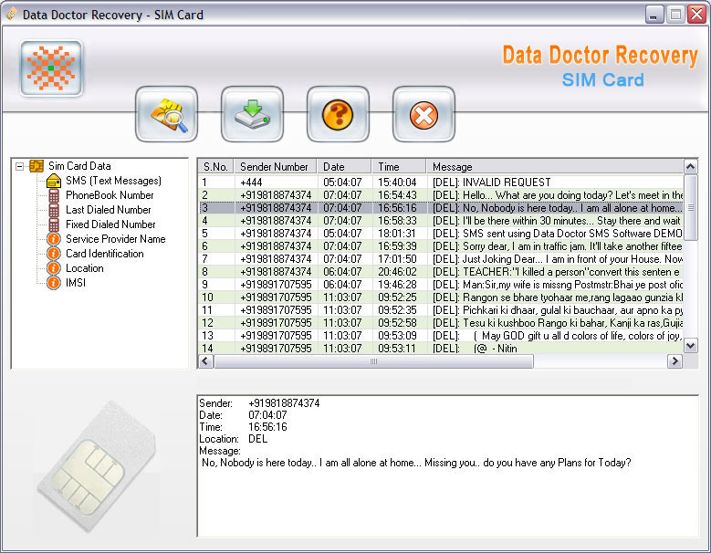 Recover Deleted SMS Messages Download