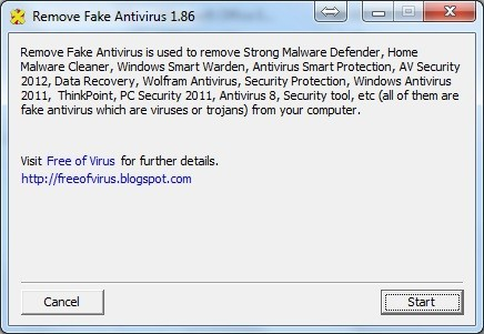 Remove Fake Antivirus Download