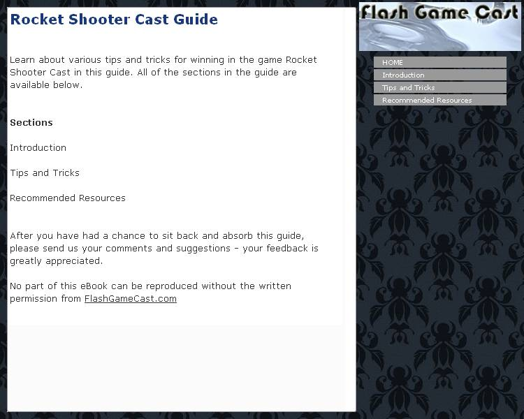 Rocket Shooter Cast Guide Download