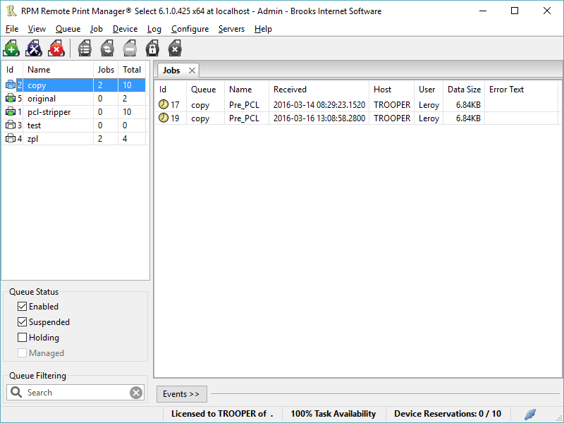 RPM Remote Print Manager Select 64 Bit Download