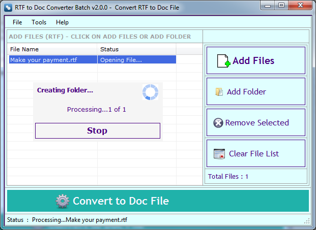 RTF TO DOC Converter Download