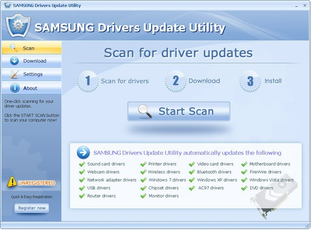 SAMSUNG Drivers Update Utility For Windows 7 64 bit Download