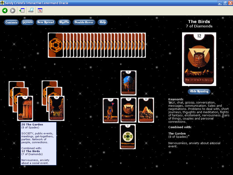 Sandy Cristel's Interactive Lenormand Or Download