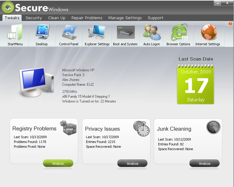 Secure Windows Pro 2010 Download