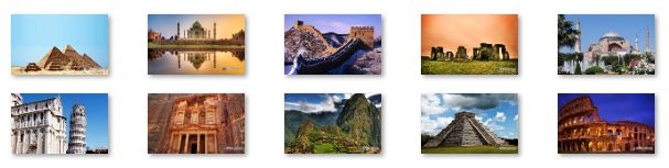 Seven Wonders of the World Windows 7 Theme Download