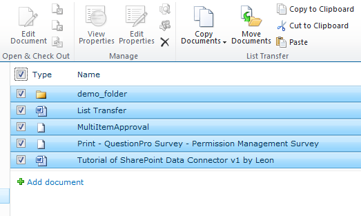 SharePoint List Transfer Download
