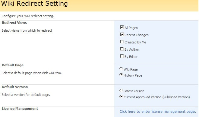 SharePoint Wiki Redirect Download