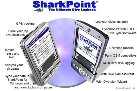 SharkPoint for Palm, the scuba dive log Download