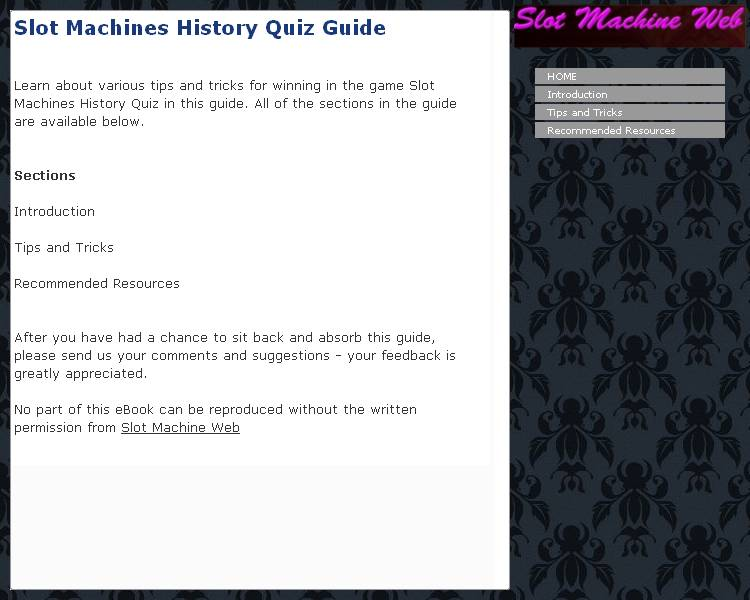 Slot Machines History Quiz Guide Download