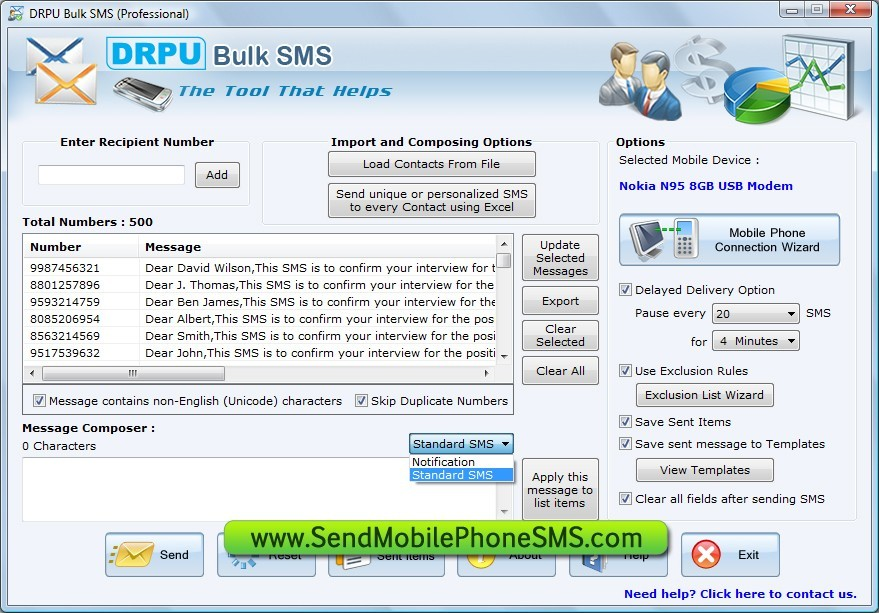 SMS Application Software Download