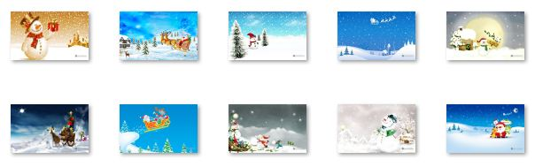 Snowy Christmas Windows 7 Theme Download