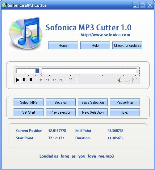Sofonica MP3 Cutter Download