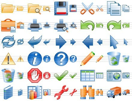 Software Toolbar Icons Download